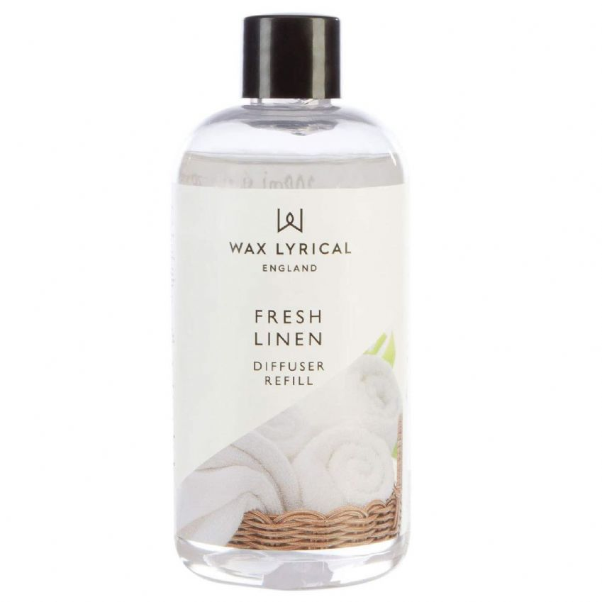 Fresh Linen Fragranced Reed Diffuser Refill Made In England Wax Lyrical 200ml